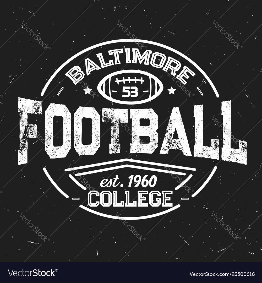 American football retro icon of students league