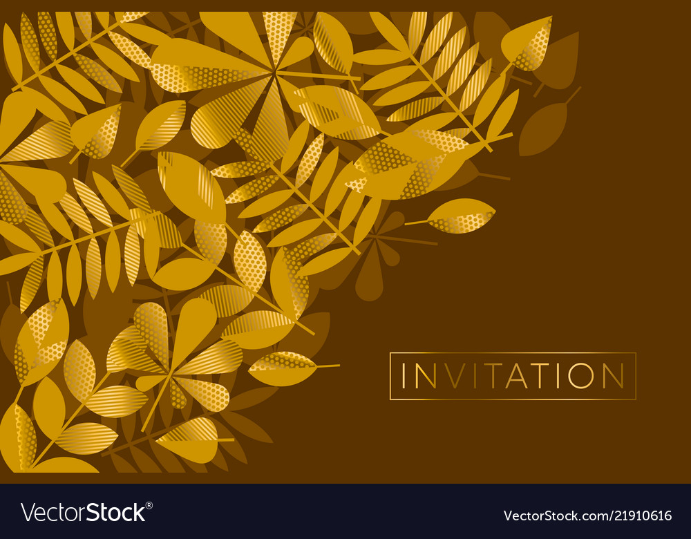 Brown and gold leaves pattern