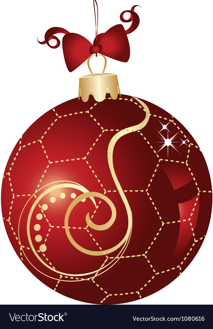 Christmas ball red and gold design
