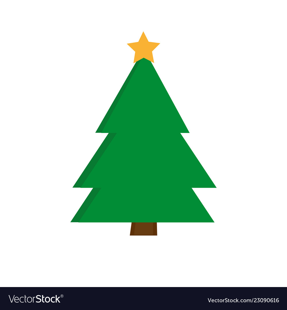 Christmas Tree Icon.Christmas Tree Icon Xmas Symbol Outline Design