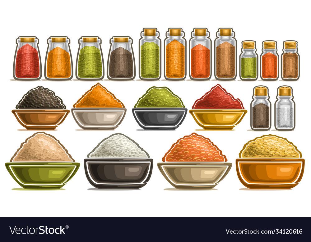 Set different spices