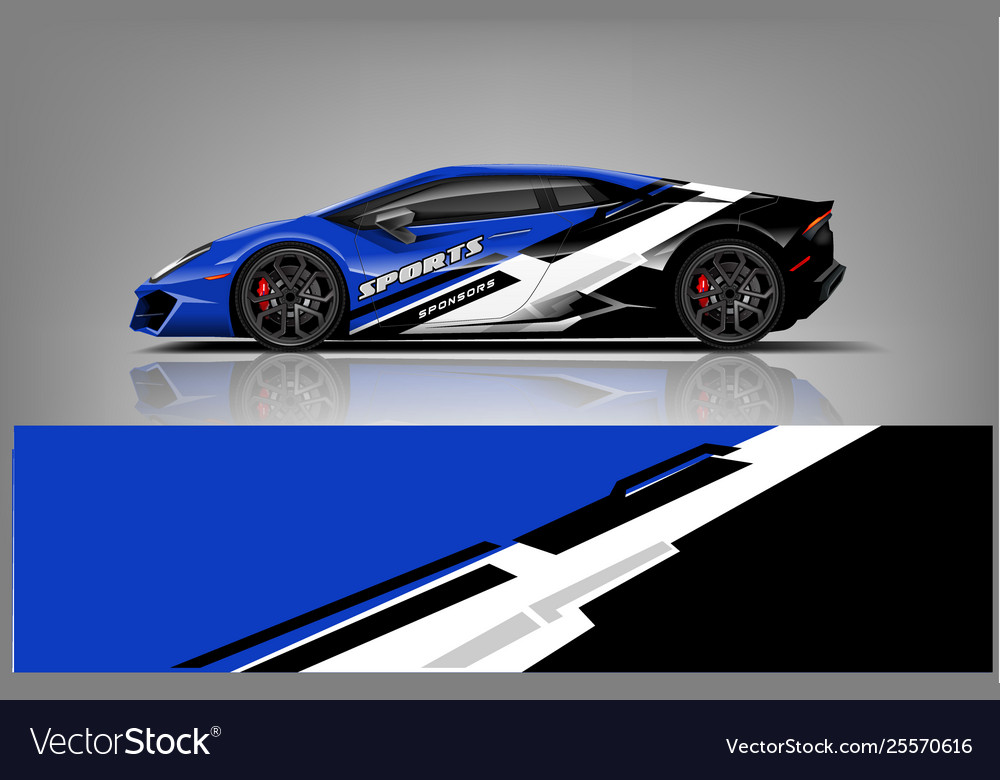 Sport Car Wrap Design Royalty Free Vector Image