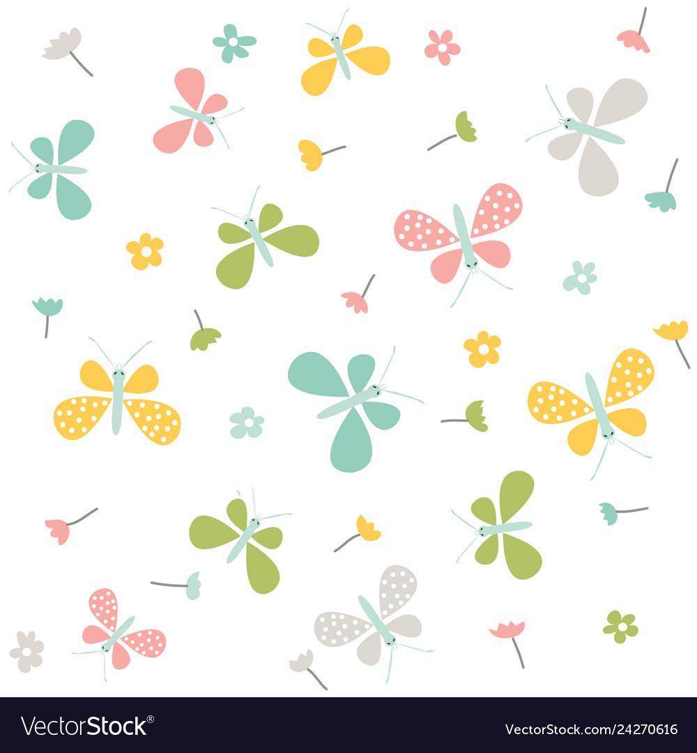 Spring pattern seamless background