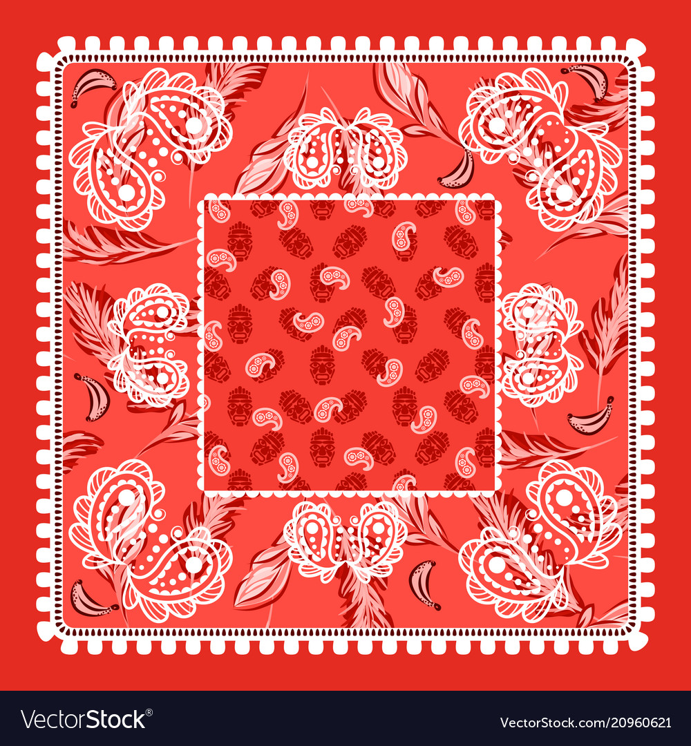 Bandana red paisley design