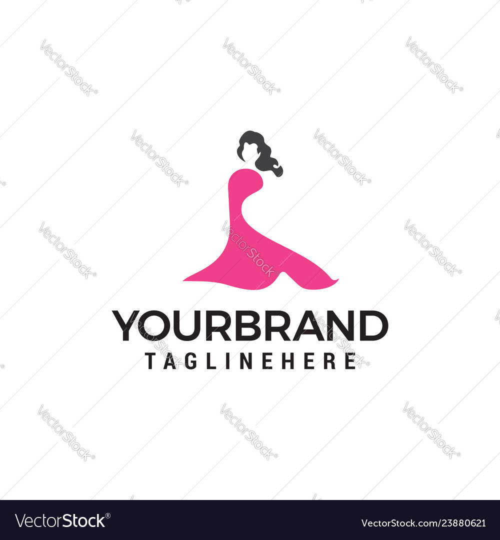 Beautiful fashion woman logo designs template