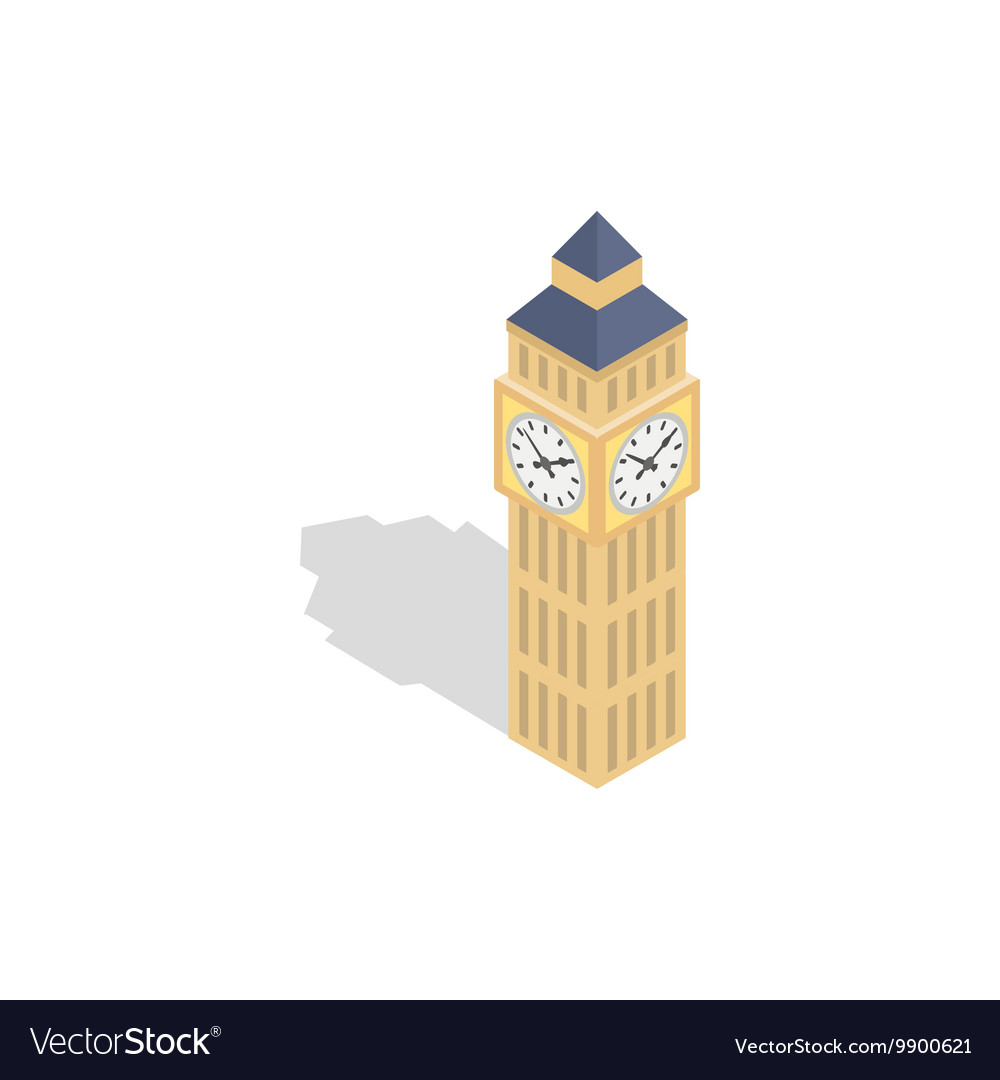 Big Ben icon isometric 3d style