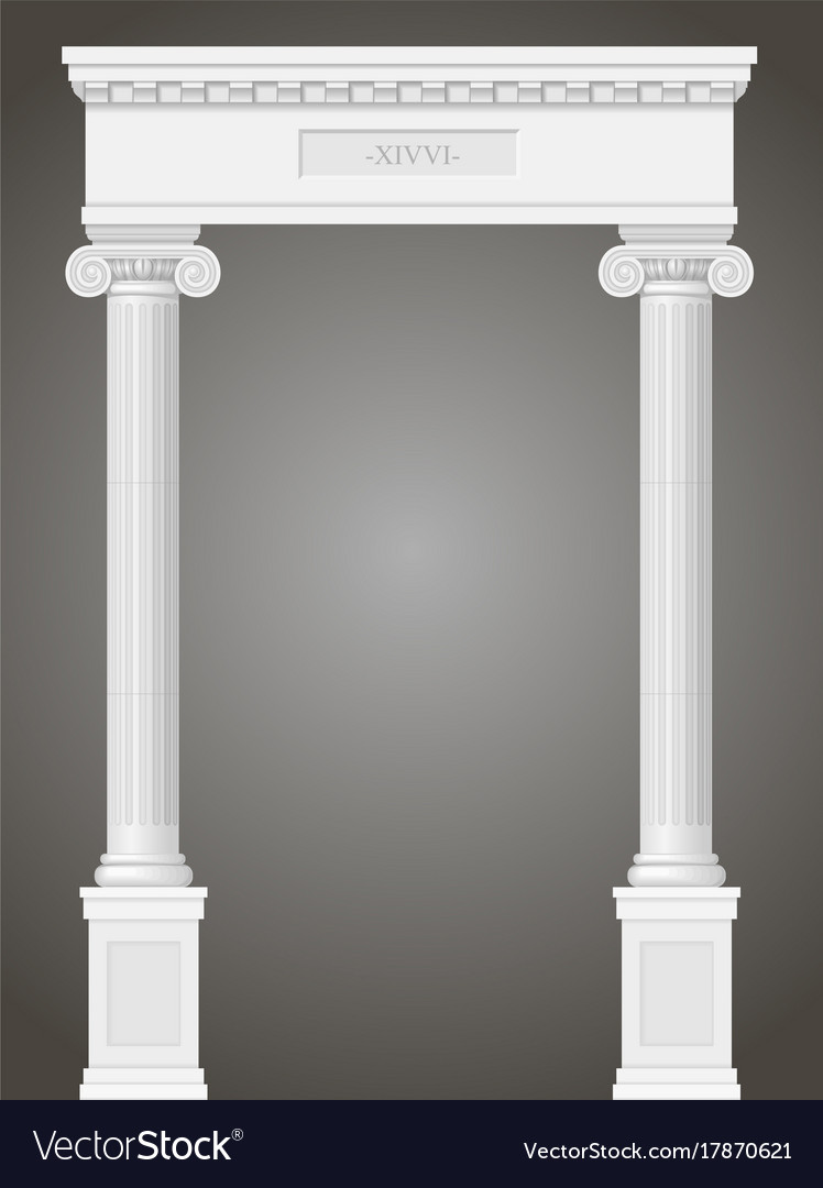 Classic antique portal