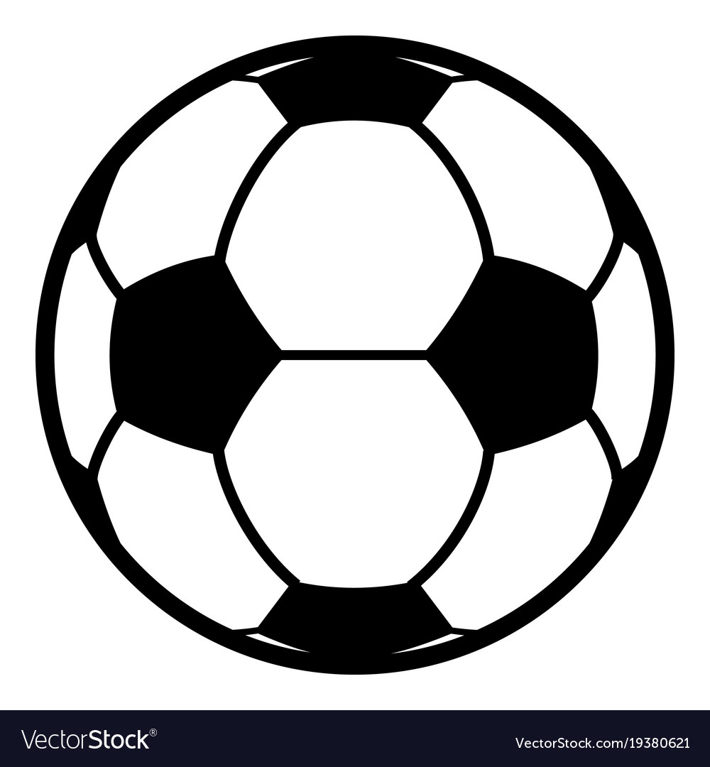 football icon simple black style vector image on vectorstock rh vectorstock com football vector pack football vector image