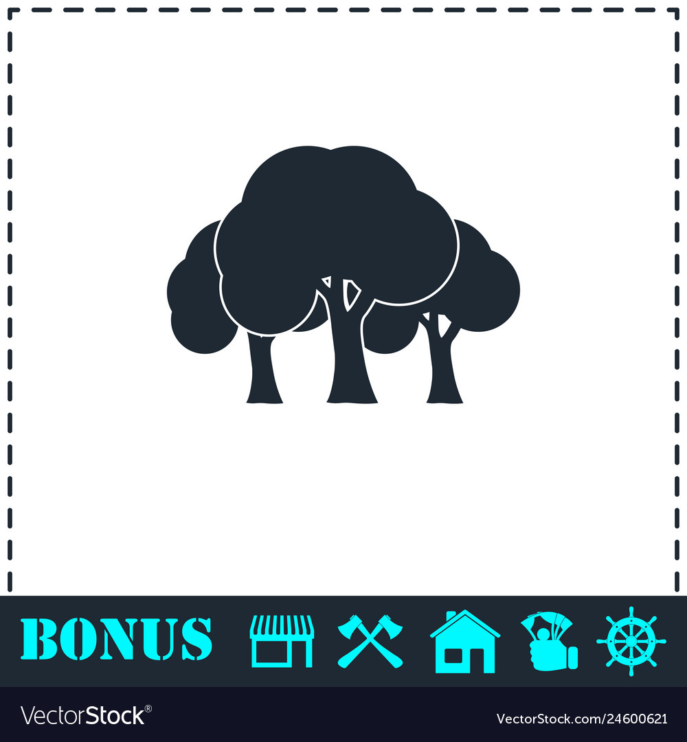 Forest icon flat