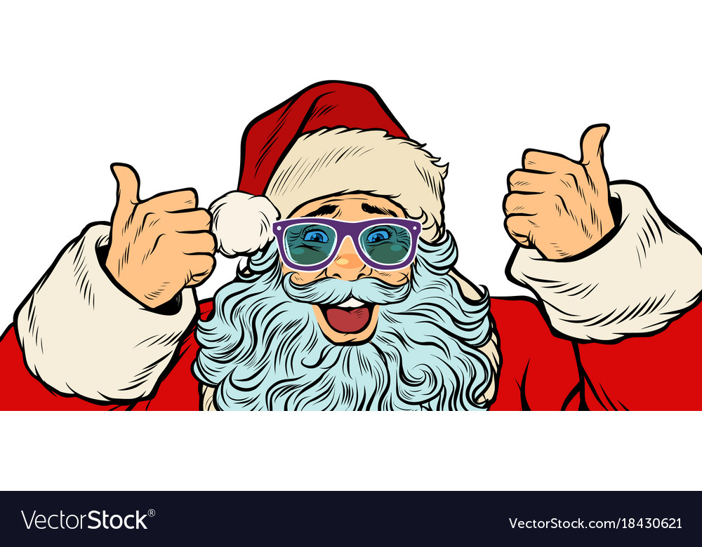 Isolated white background santa claus funny
