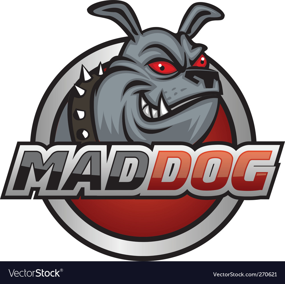 Mad dog vector image