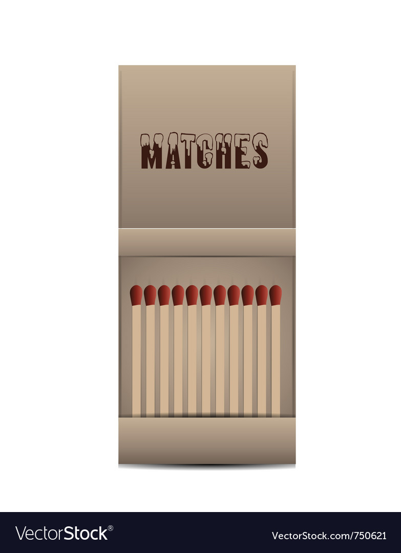Matchbox isolated vector image
