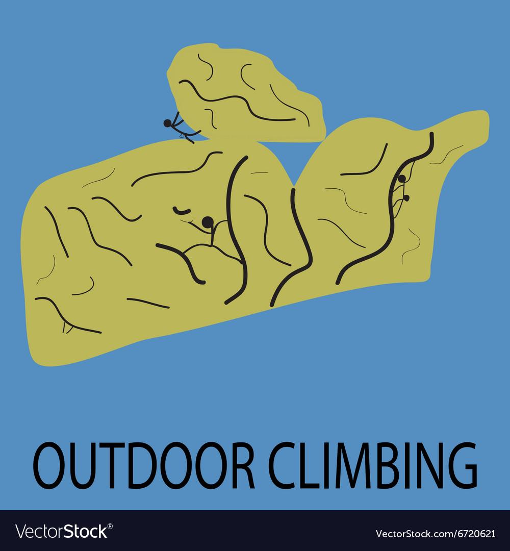 Outdoor climbing icon vector image