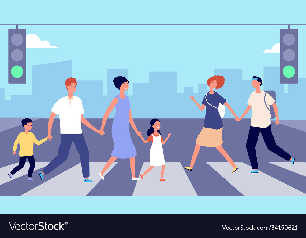 People on crosswalk person traffic pedestrian