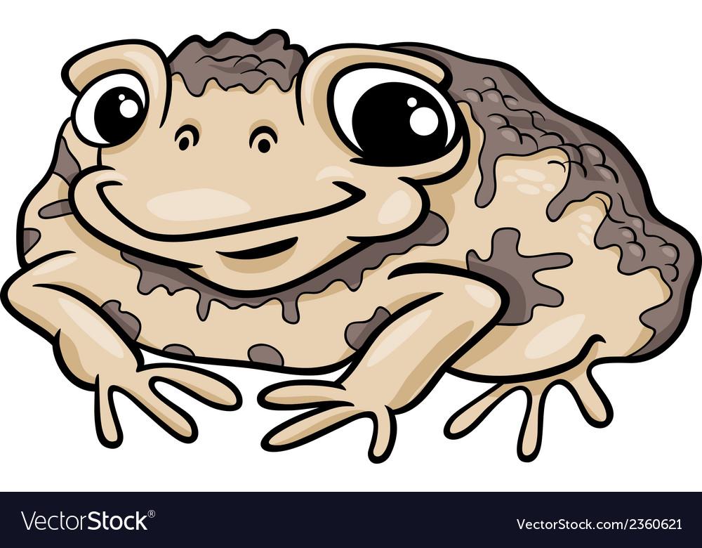 Toad amphibian cartoon