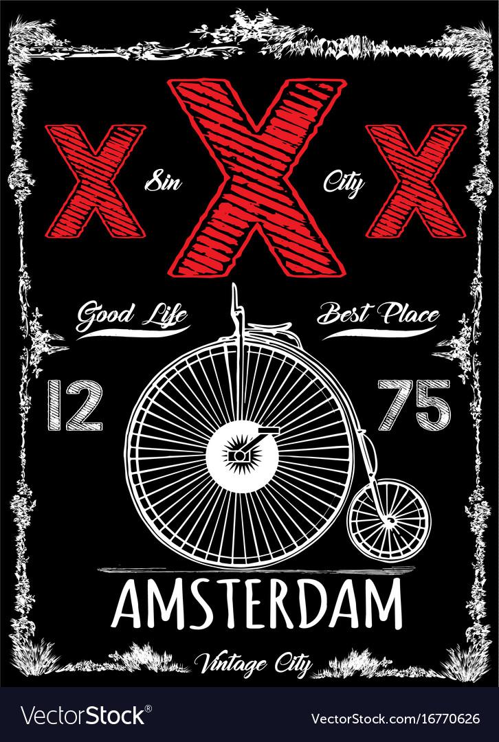 Amsterdam vintage poster