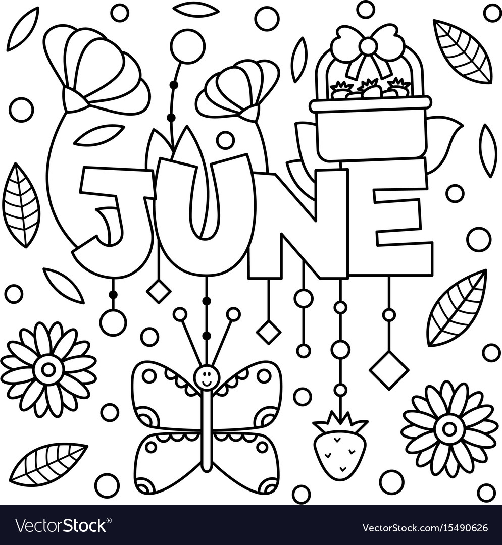 Black and white coloring page