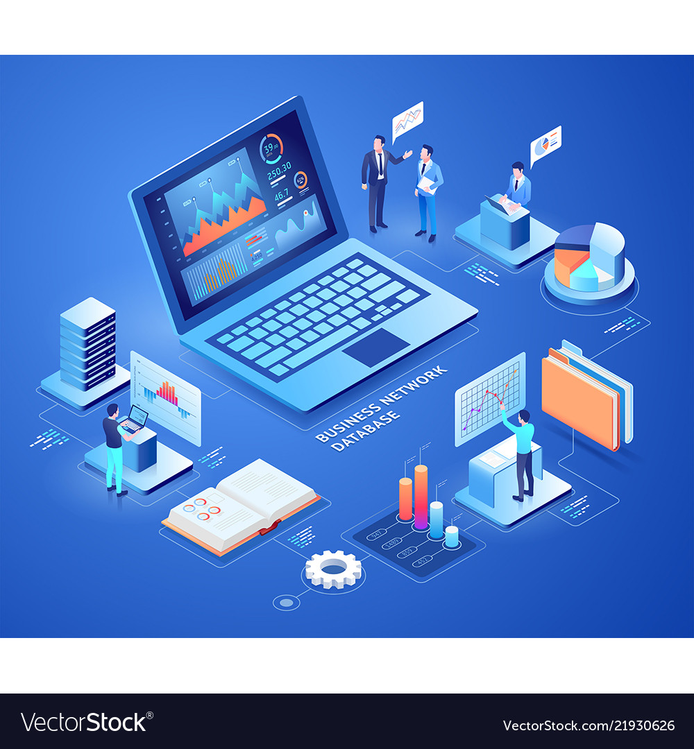 Business network database isometric