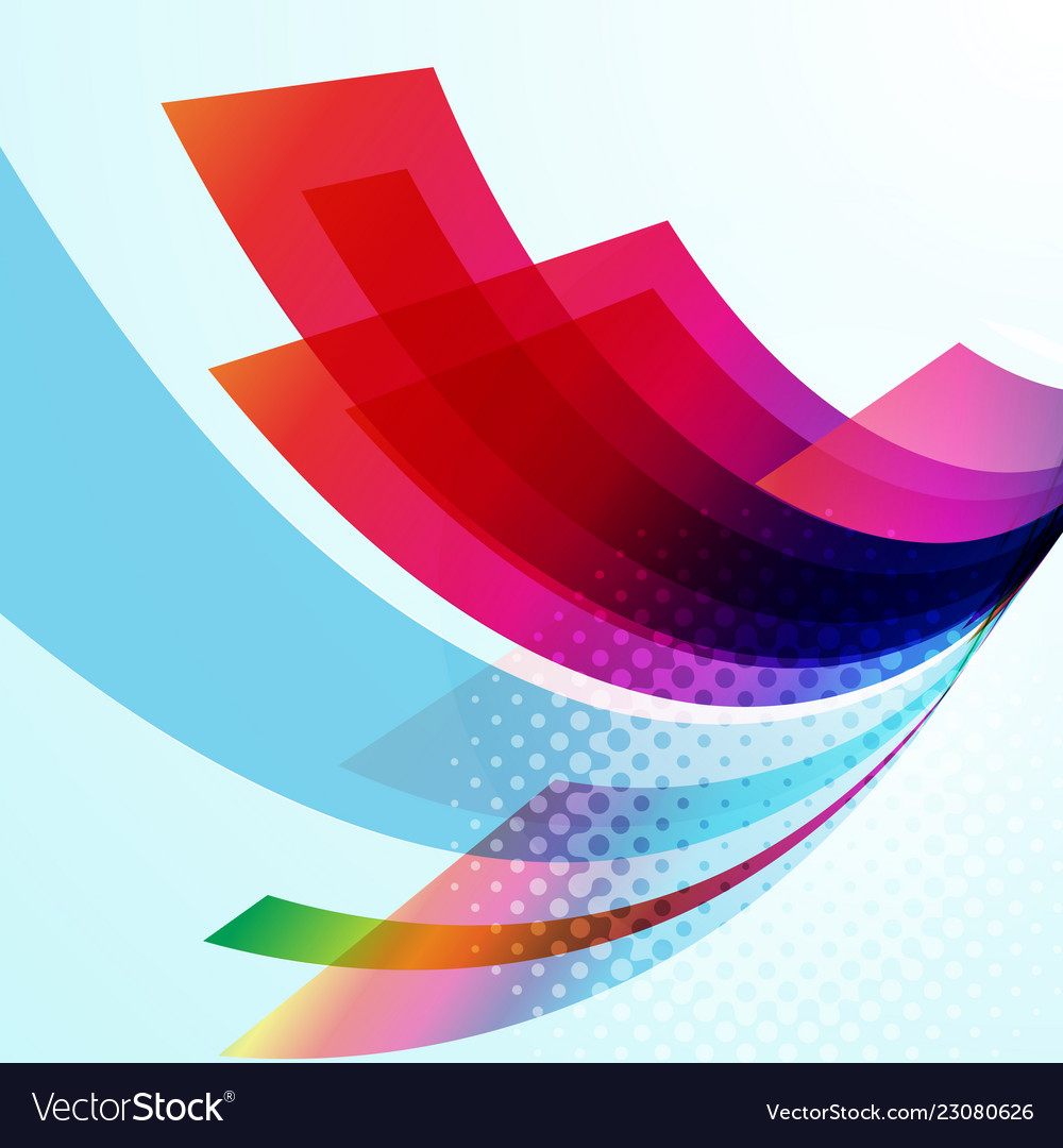 Business technology colorful wave background