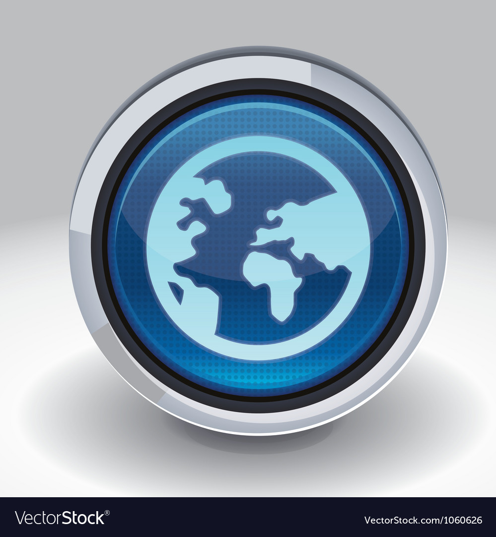 Button with internet icon