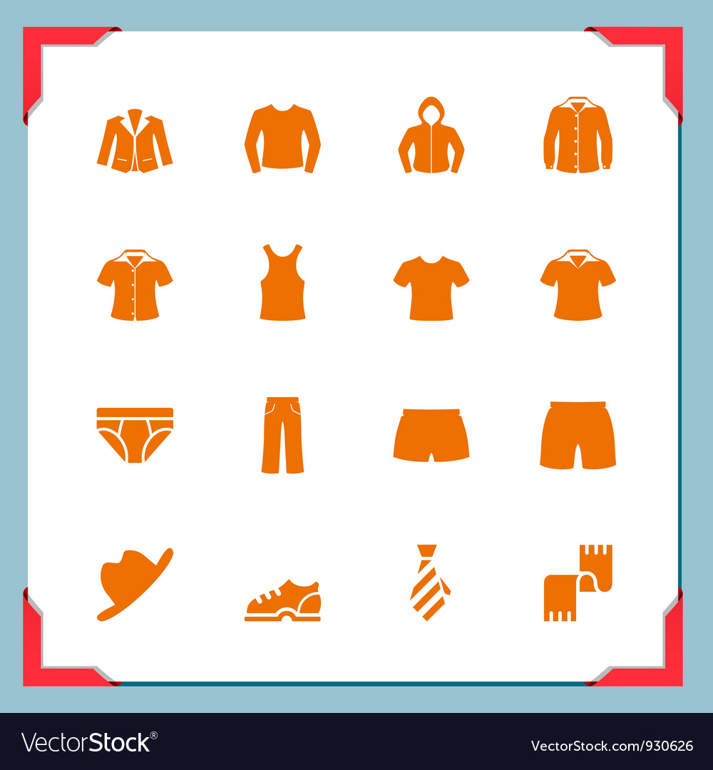 Clothes icons In a frame series Royalty Free Vector Image