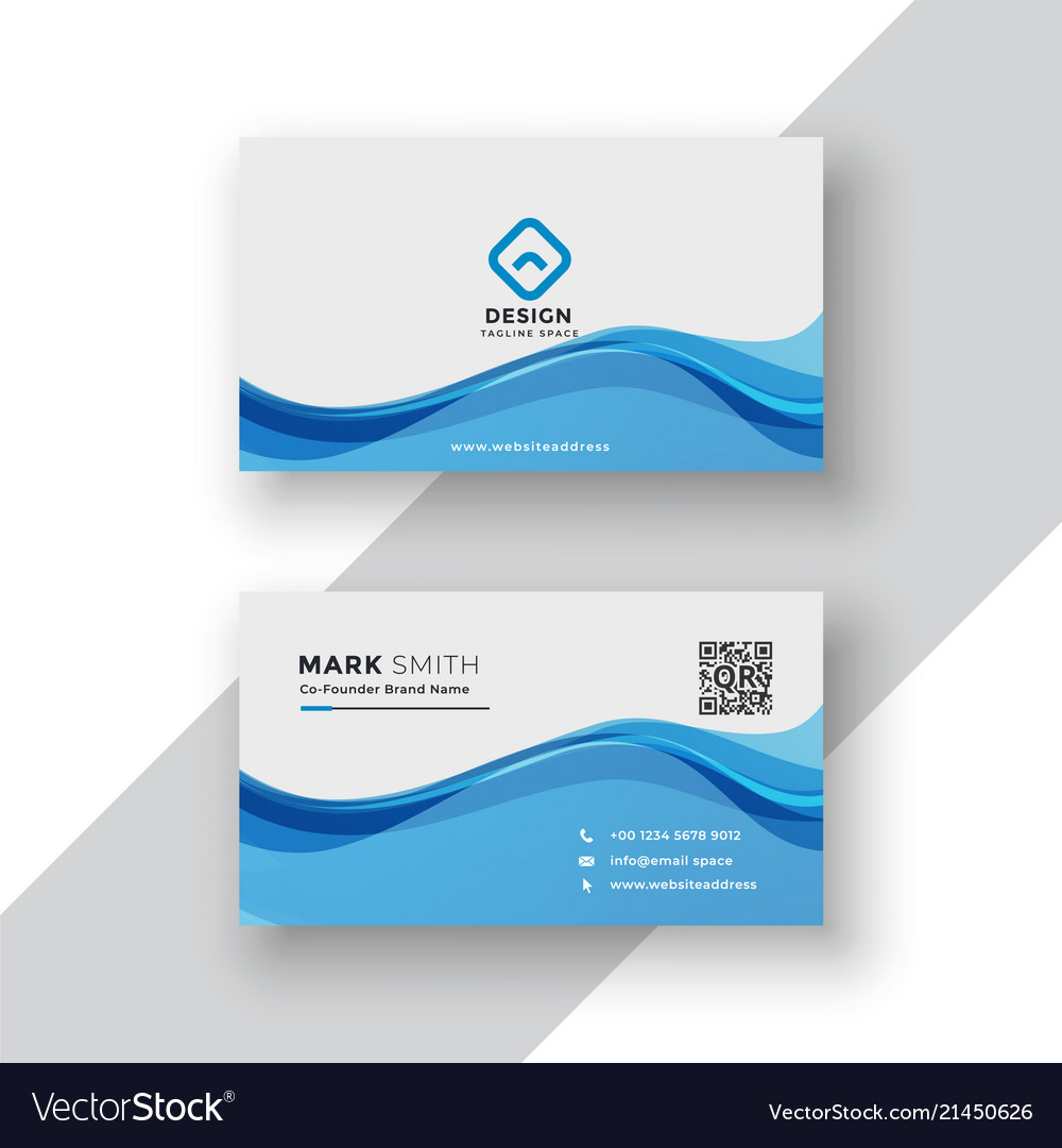 Corporate blue business card template royalty free vector corporate blue business card template vector image flashek Gallery