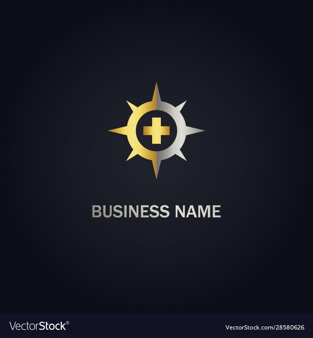 Cross medic star gold logo