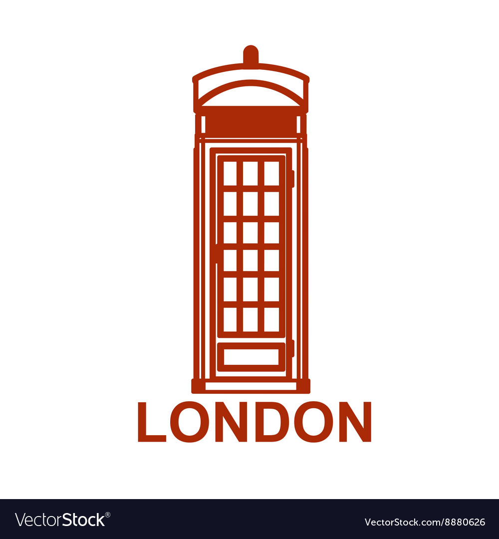 London phone booth isolated on white photo
