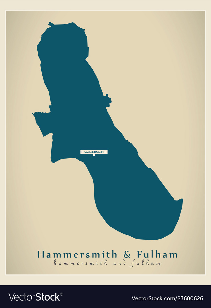Modern Map Hammersmith And Fulham Borough Vector Image