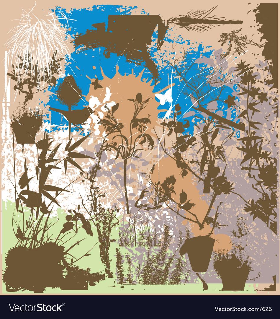 Nature grunge elements vector image