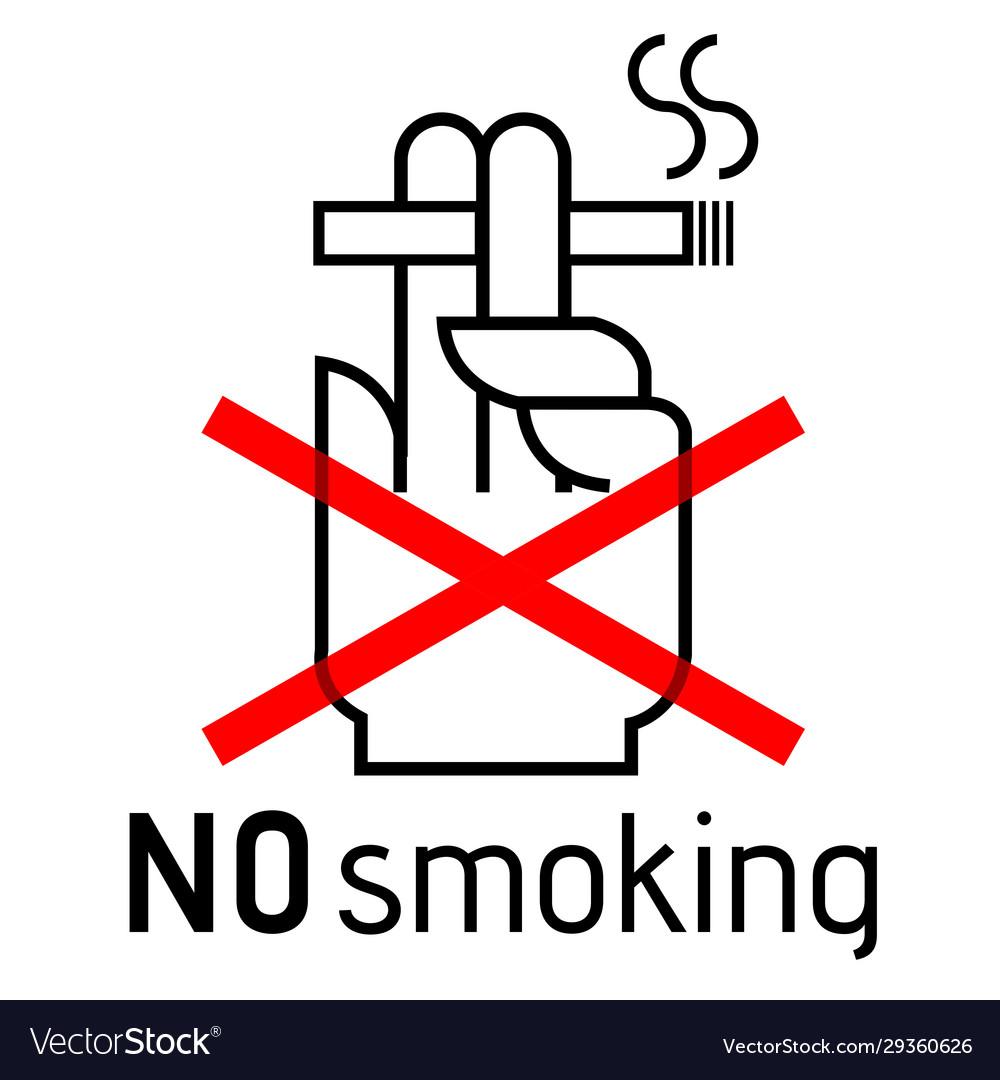 No smoking sign door no smoking area stiker icon