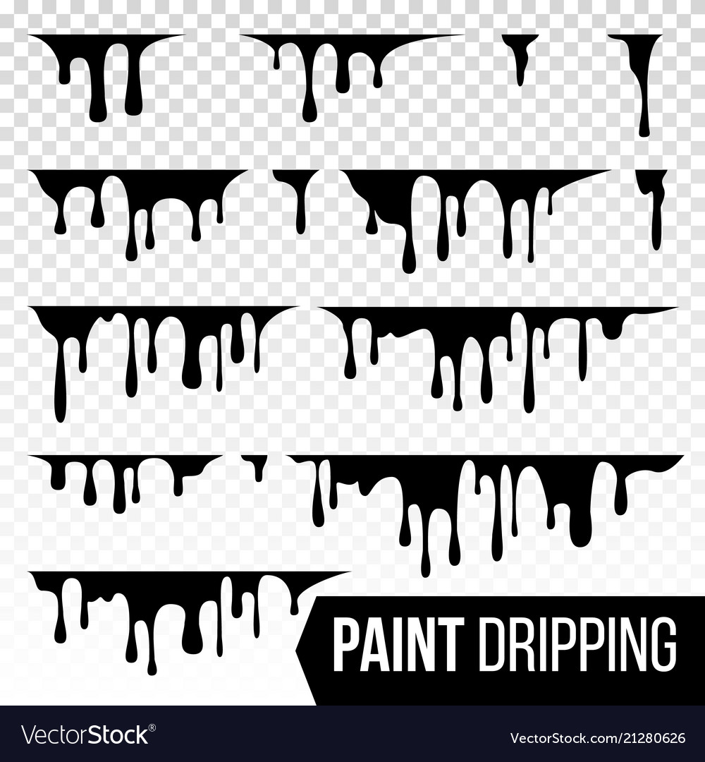 Paint dripping liquid abstract current