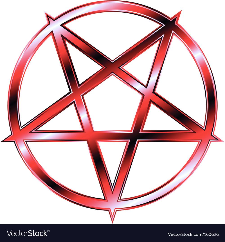 Red Pentagram Royalty Free Vector Image Vectorstock