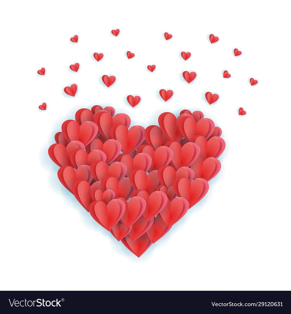 Big valentine s heart decorative heart background
