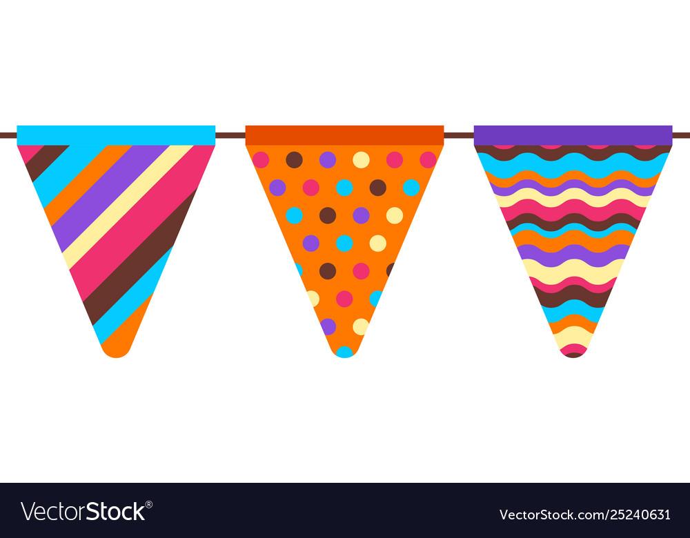 Garland flags pattern