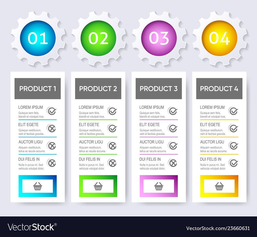 Modern product price table design template