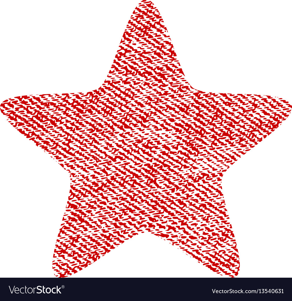 Star fabric textured icon