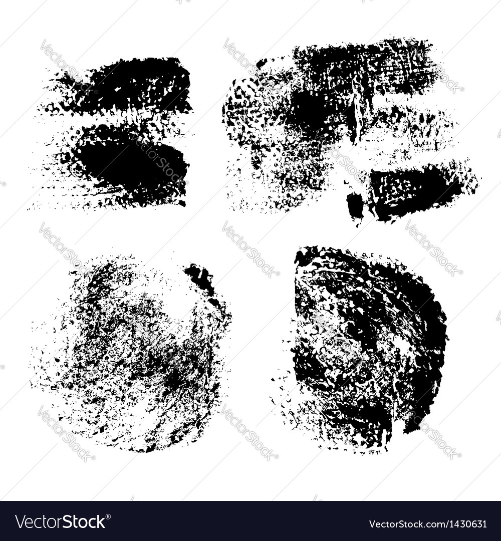 Swabs and prints of paint textured paper vector image