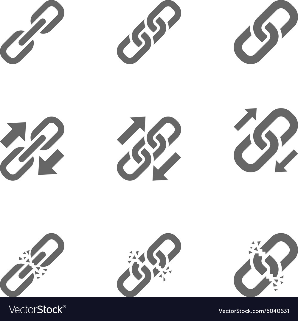 Three types link icons