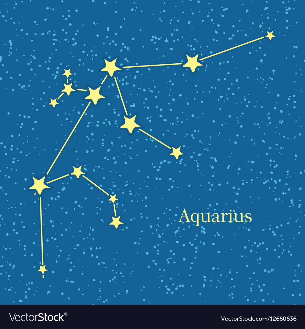 aquarius zodiac sign symbol horoscope royalty free vector