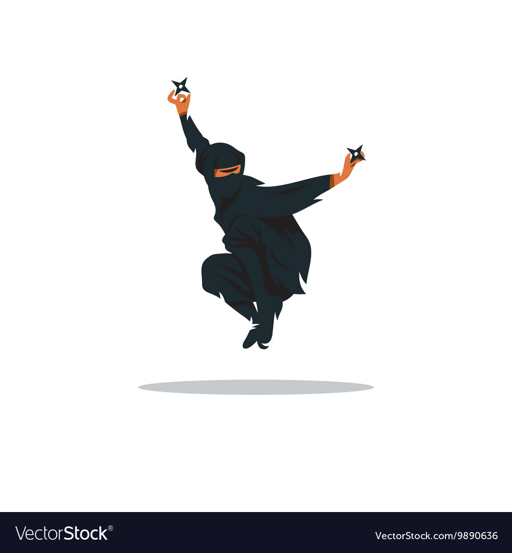 Asian Ninja Cartoon Assasin