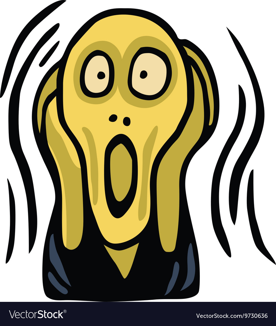 Clipart Of The Screaming Head vector image