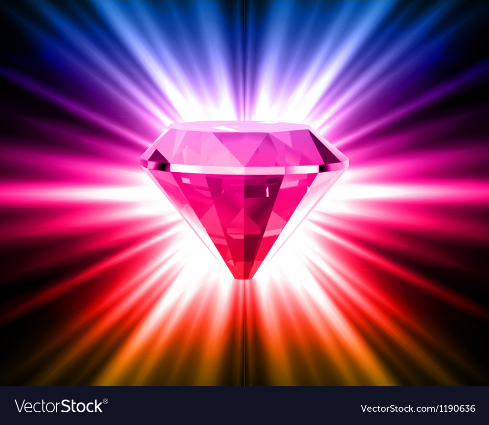 Colorful Diamond On Bright Background Royalty Free Vector