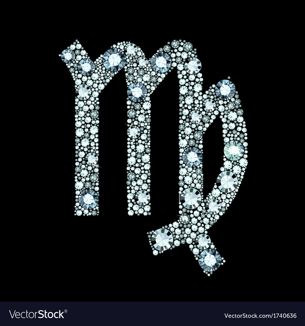 Diamond Virgo Symbol vector image