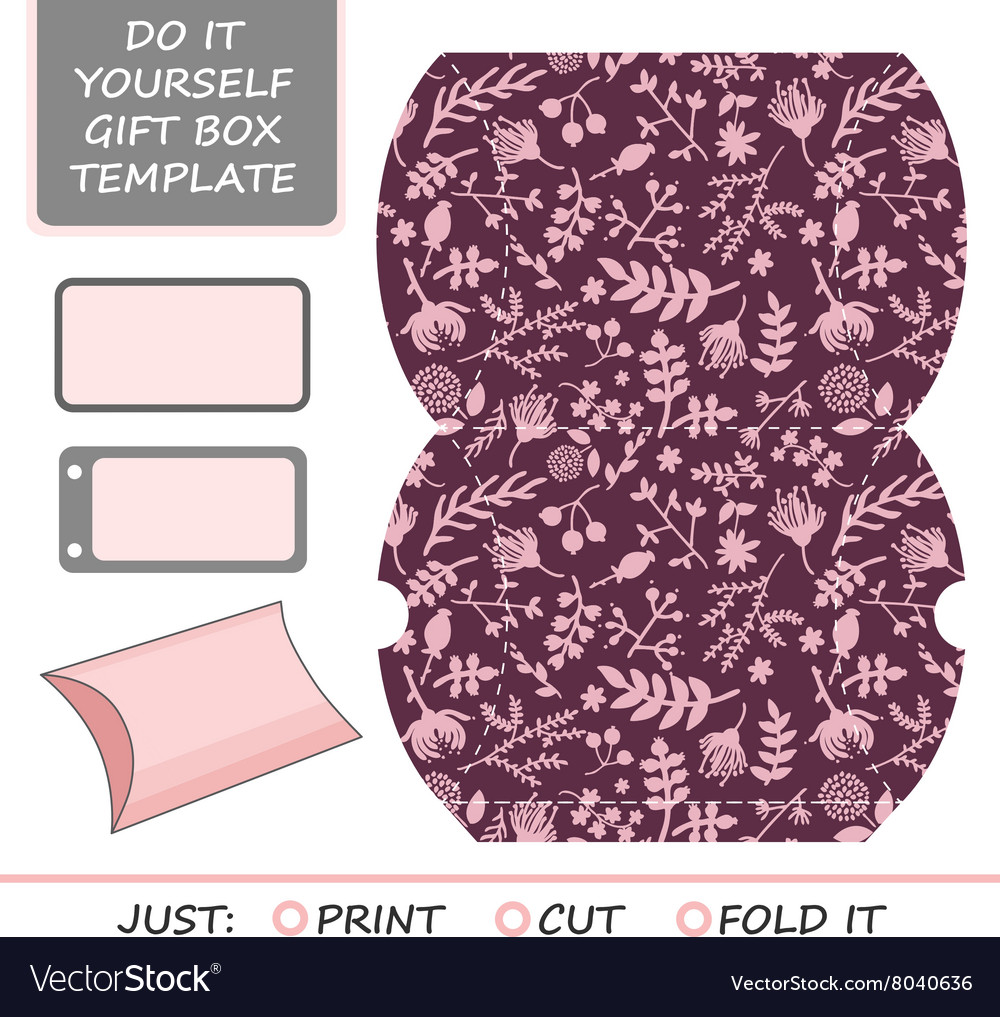 Favor gift box die cut box template royalty free vector favor gift box die cut box template vector image solutioingenieria Images