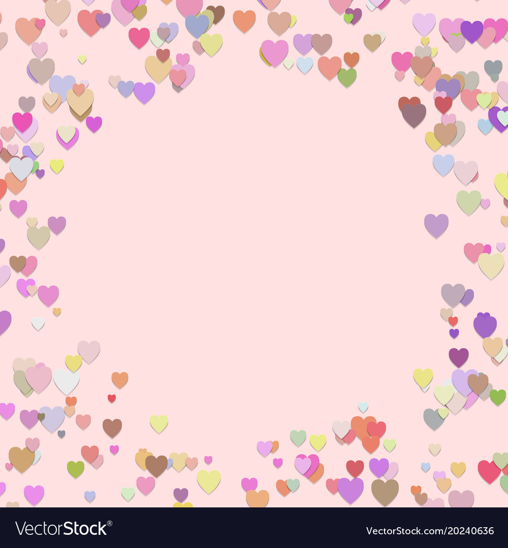 Happy random heart background design - valentines