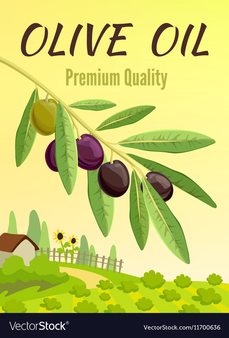 olive colored poster royalty free vector image