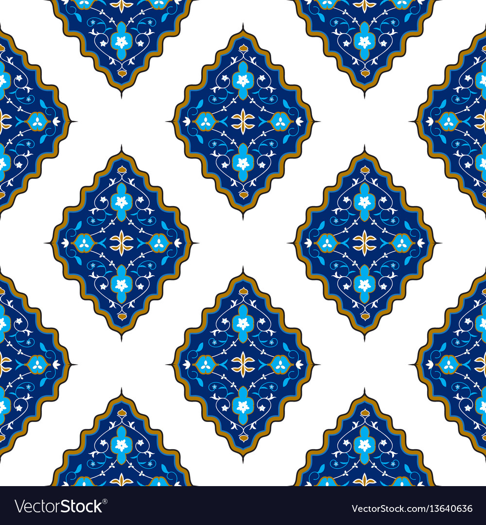 Oriental seamless pattern with arabesque