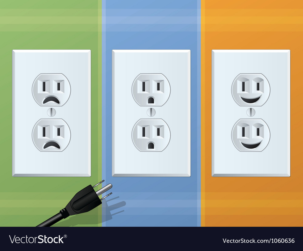 Receptacle vector image