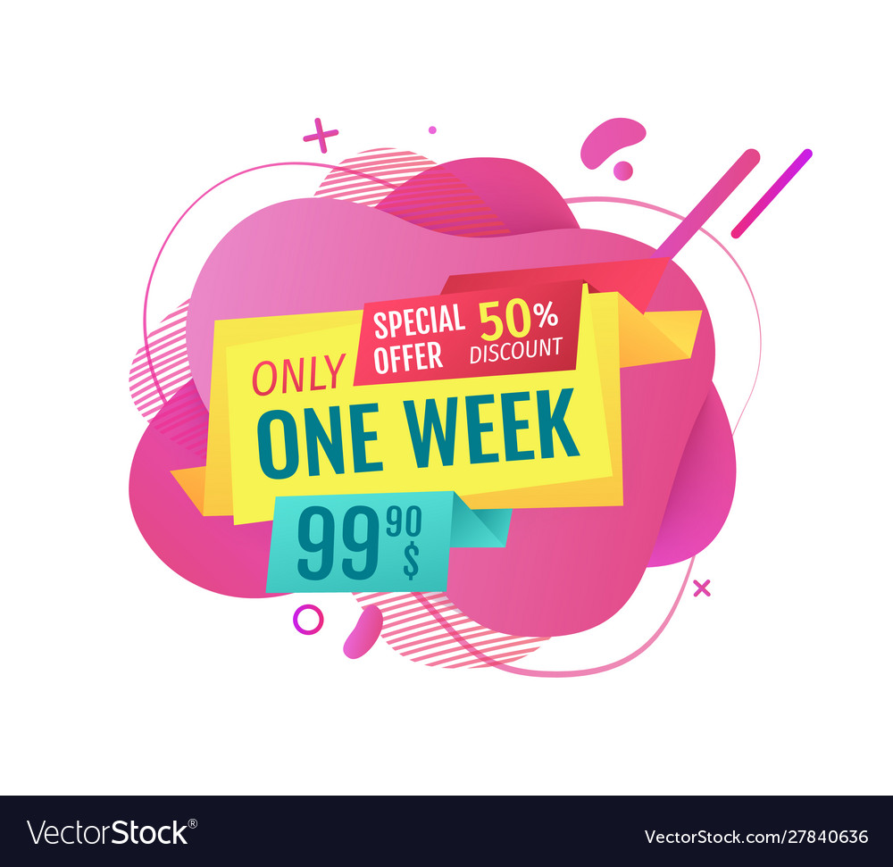 Sales only one week promotion price on banner